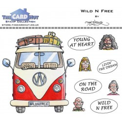 (MBGOWF)The Card Hut Great Outdoors: Wild N Free Clear Stamps