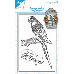(6410/0536)Clear stamp grass parakeet