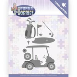 (YCD10229)Dies - Yvonne Creations - Funky Hobbies - Golf