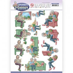 (SB10513)3D Push Out - Yvonne Creations - Funky Hobbies - Reading