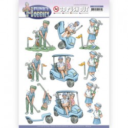 (SB10514)3D Push Out - Yvonne Creations - Funky Hobbies - Golf