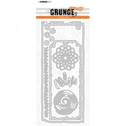 (STENCILSL345)Studio Light Cutting and Embossing Die Grunge Collection - nr.345