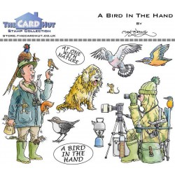 (MBGOBH)The Card Hut Great Outdoors: A Bird In The Hand Clear Stamps