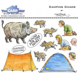 (MBGOCC)The Card Hut Great Outdoors: Camping Chaos Clear Stamps