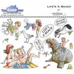 (MBGOLB)The Card Hut Great Outdoors: Life's A Beach Clear Stamps