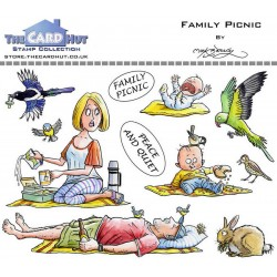 (MBGOFP)The Card Hut Great Outdoors: Family Picnic Clear Stamps
