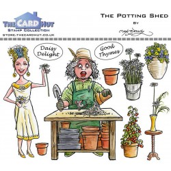 (MBGSPS)The Card Hut Garden Sheds: The Potting Shed Clear Stamps