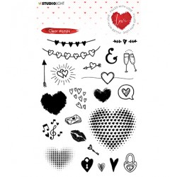(STAMPFWL508)Studio light Stamp Filled With love - nr.508