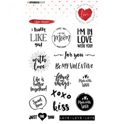 (STAMPFWL509)Studio light Stamp Filled With love - nr.509