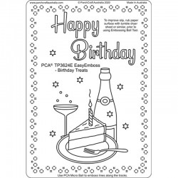(TP3624E)PCA-UK® - EasyEmboss Birthday Treats