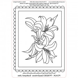 (TP3625E)PCA-UK® - EasyEmboss Scalloped Lilies
