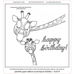 (LS9002E)PCA-UK® - EasyEmboss Giraffes Happy Birthday
