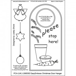 (LS9003E)PCA-UK® - EasyEmboss Christmas Door Hanger