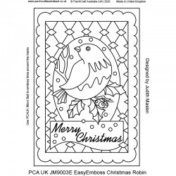(JM9003E)PCA-UK® - EasyEmboss Christmas Robin