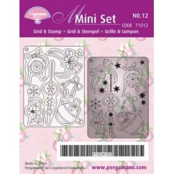 Pergamano Mini set grid & stamp 12 (71012)