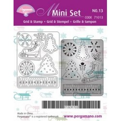 Pergamano Mini set grid & stamp 13 (71013)