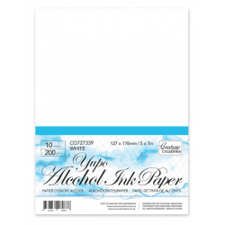 (CO727339)Couture Creations Yupo Alcohol Ink Paper White A5 200 grs
