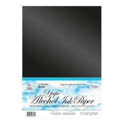 (CO727892)Couture Creations Yupo Paper A4 Black 200 grs