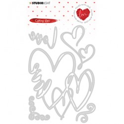 (STENCILFWL351)Studio Light - Cutting Die - Filled With love - nr.351