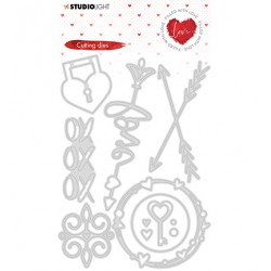 (STENCILFWL352)Studio Light - Cutting Die - Filled With love - nr.352