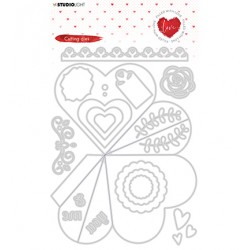 (STENCILFWL353)Studio Light - Cutting Die - Filled With love - nr.353