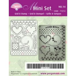 Pergamano Mini set grid & stamp 14 (71014)