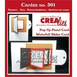 (CLCZ301)Crealies Cardzz Waterfall slider card + Pop up panel card
