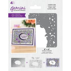 (GEM-STD-FLOW)Gemini Flowers & Vines Stamp & Die