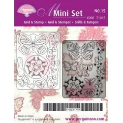 Pergamano Mini set grid & stamp 15 (71015)