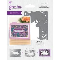 (GEM-STD-BUTF)Gemini Butterfly Frame Stamp & Die