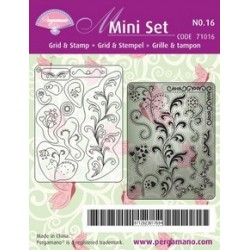 Pergamano Mini set grid & stamp 16 (71016)