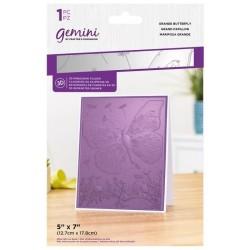 (GEM-EF5-3D-GRBU)Gemini Grande Butterfly 3D Embossing Folder