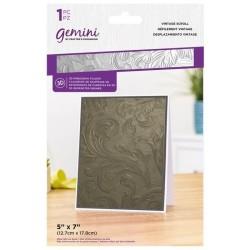 (GEM-EF5-3D-VSC)Gemini Vintage Scroll 3D Embossing Folder