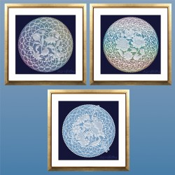 (PP045)Adele Miller: White Work Wall Decorations