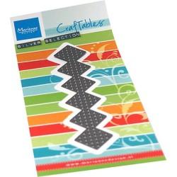 (CR1532)Craftables Cross stitch border plaid