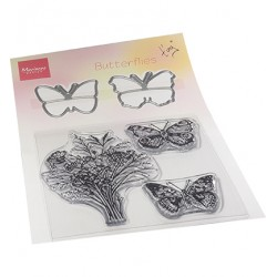 (TC0879)Clear stamp Tiny's Butterflies stamp & die set