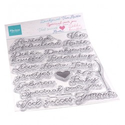 (CS1077)Clear stamp  Stikselteksten