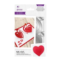 (GEM-MD-ELE-SPHE)Gemini Spiral Pop-Out Heart Elements Dies