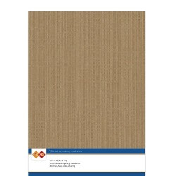 (LKK-A412)Linen Cardstock - A4 - Coffee brown
