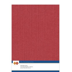 (LKK-A413)Linen Cardstock - A4 - Red