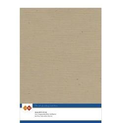 (LKK-A445)Linen Cardstock - A4 - Kraft Cappuccino