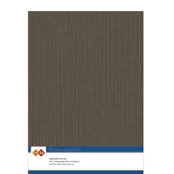 (LKK-A433)Linen Cardstock - A4 - Chocolate brown