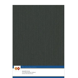 (LKK-A431)Linen Cardstock - A4 - Black