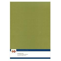 (LKK-A446)Linen Cardstock - A4 - Olijfgroen