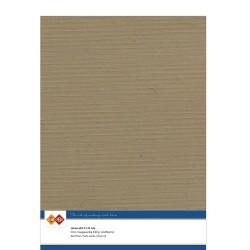 (LKK-A444)Linen Cardstock - A4 - Kraft Mokka