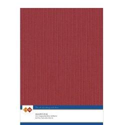 (LKK-A434)Linen Cardstock - A4 - Christmas red