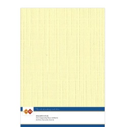 (LKK-A403)Linen Cardstock - A4 - Light yellow
