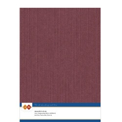 (LKK-A414)Linen Cardstock - A4 - Bordeaux