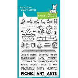 (LF2336)Lawn Fawn Crazy Antics Clear Stamps