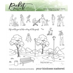 (BB-137)Picket Fence Studios A Walk in the Park 6x6 Inch Clear Stamps
